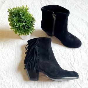 NEW Sam Edelman | Black Suede Louie Western Bootie